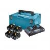 MAKITA 198091-4 sada 4*BL1860B akumulátor 18V/6Ah + DC18RD dvojnabíječka + systainer