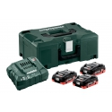 METABO Basic-Set 3 x LiHD 4,0 Ah + ML 685133000