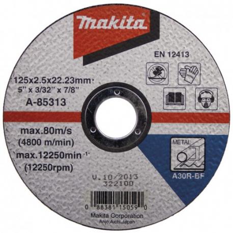 rezný kotúč na kov 125x2,5x22 MAKITA A-85313